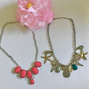 Fun Necklaces - Hot Pink Fancy & a Nautical one!